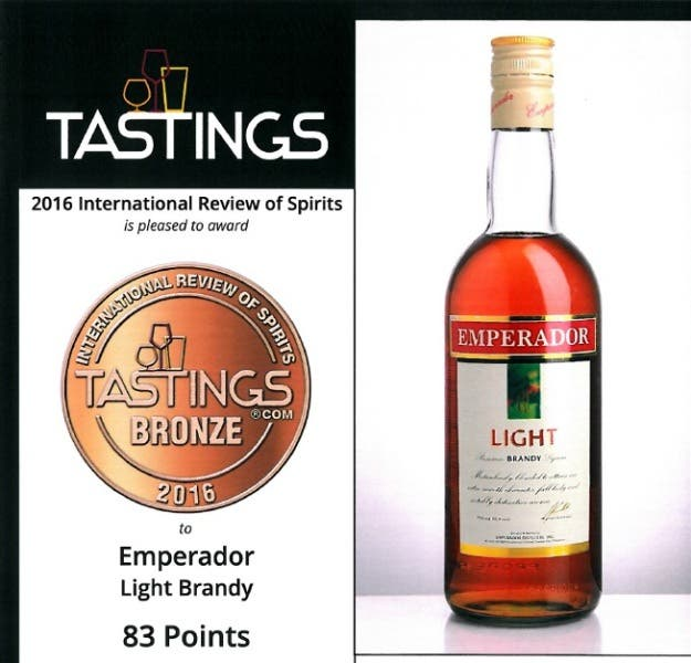 Filipino Owned Brandy Awarded As One Of The Best Brandies