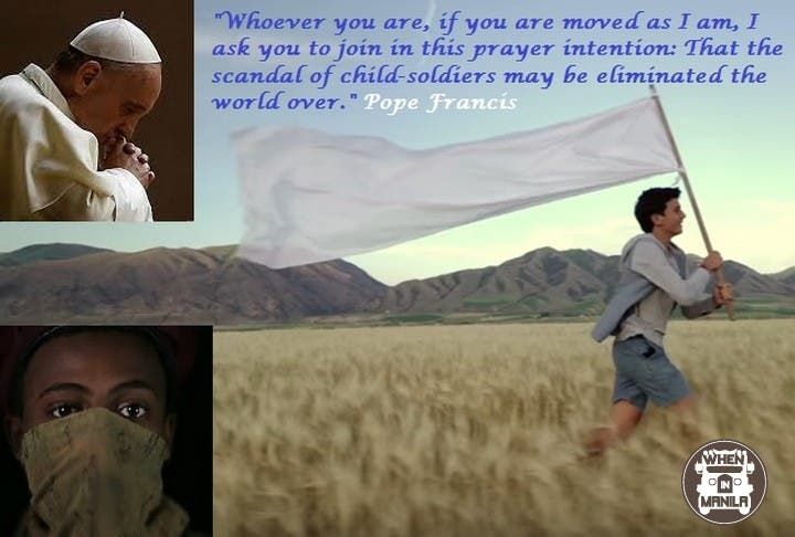 Pope Francis' Prayer Intention for December is for the Child-Soldiers