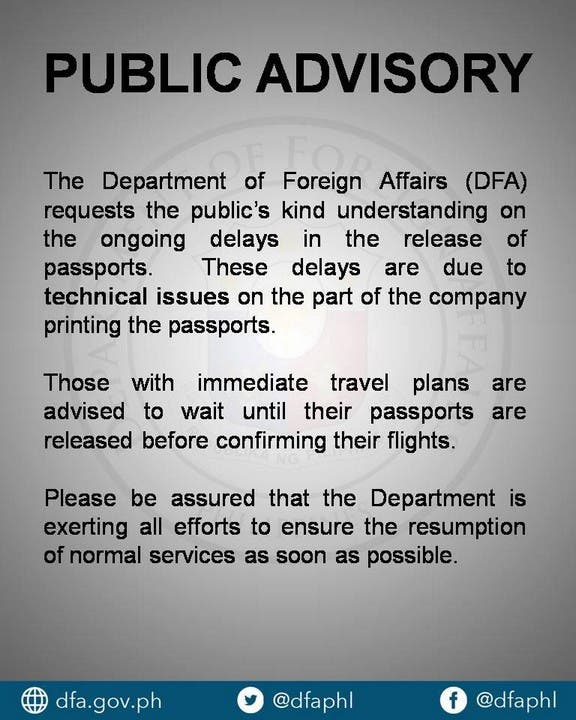 There are 15,000 Filipinos who apply for passports at the DFA and its satellite offices daily