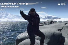 mannequin challenge antartica united nations