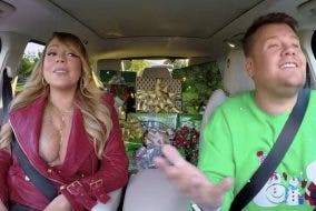 christmas-carpool-karaoke mariah carey james corden
