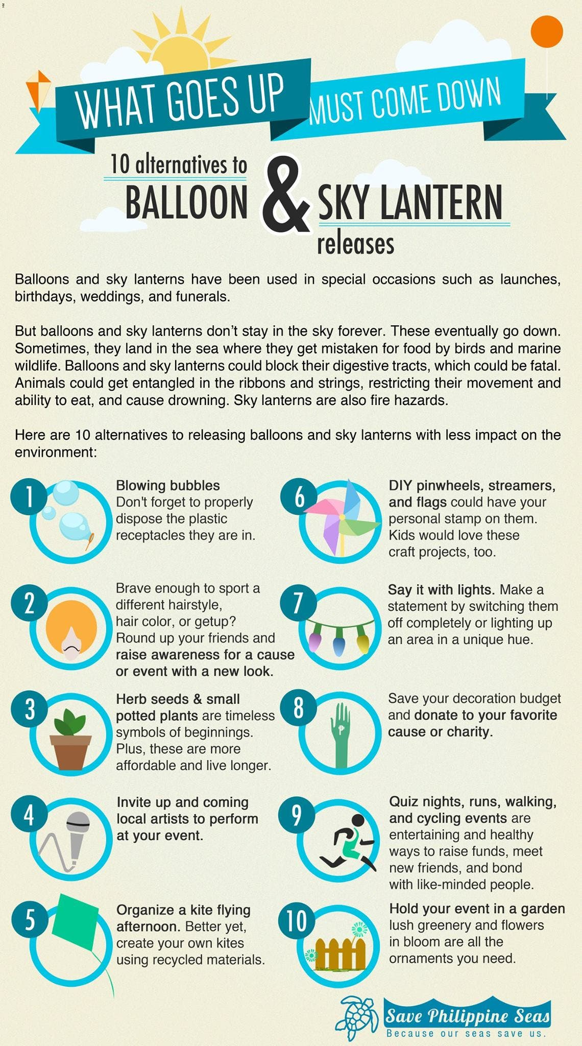 Alternatives to balloon and sky lantern releases