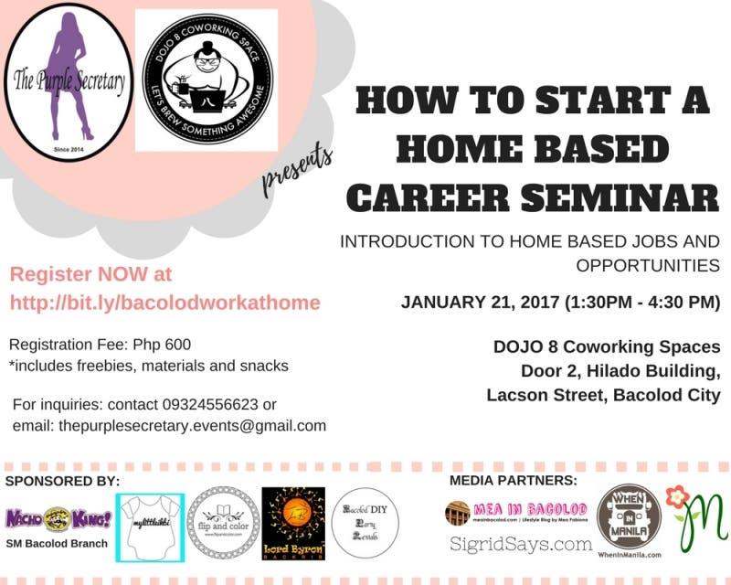 HOW TO START A HOME BASED CAREER SEMINAR