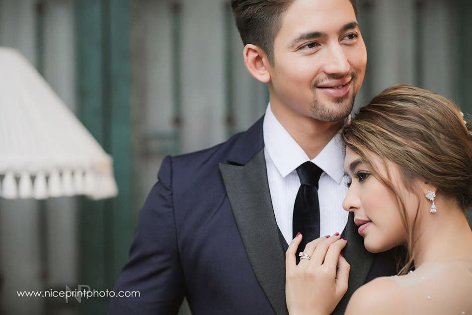 LOOK- Bangs Garcia Looks Beautiful in Prenup Shoot with Fil-Brit Fiance 2