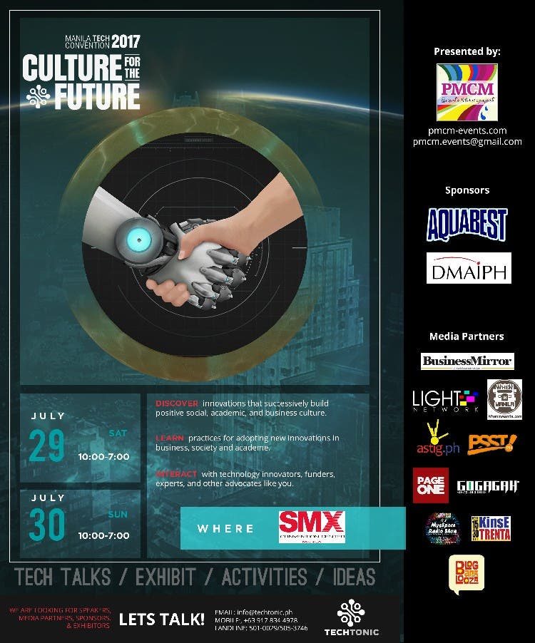 Discover Innovation at TECHTonic 2017 Manila Convention! PMCM Events