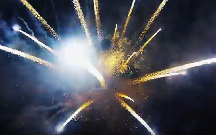 drone over fireworks