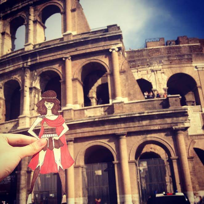 LOOK: This Student Made Paperdolls To Replace Herself In Her Tourist Photos