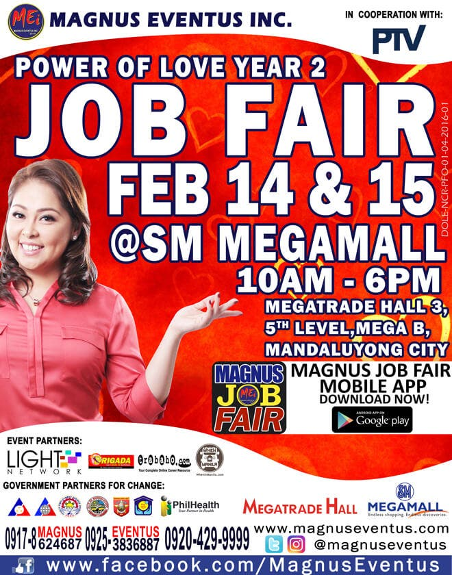 Power of Love Job Fair Year 2 Event Poster