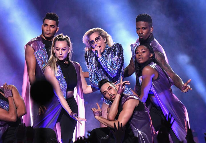 WATCH- Lady Gaga Dazzles in Super Bowl Halftime Show