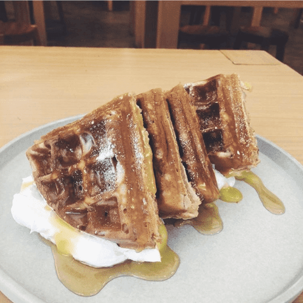 Yardstick Coffee waffles