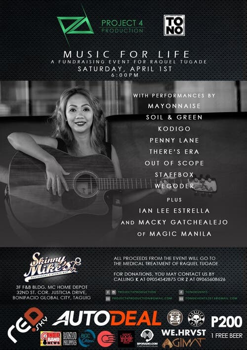 MUSIC FOR LIFE A Fund Raising Event for Raquel Tugade