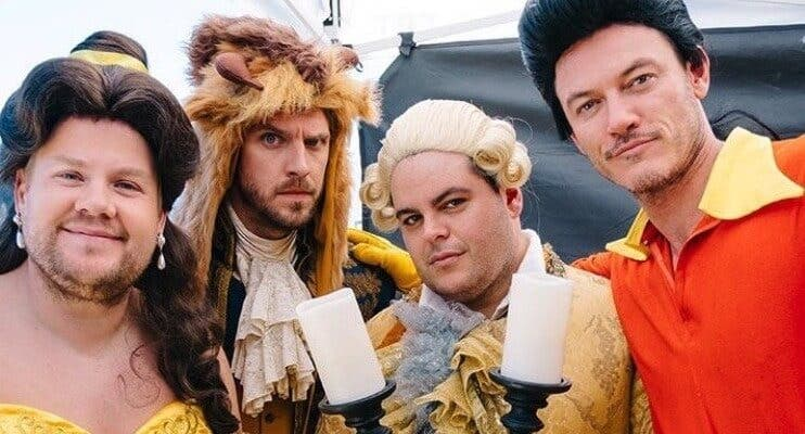 WATCH- James Corden Performs Beauty and the Beast with Cast at a Ped Xing