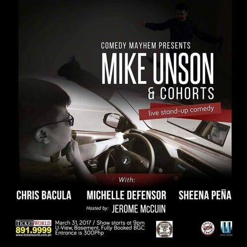 WIMNL.Mike Unson Live Stand Up Comedy Show at Fully Booked BGC