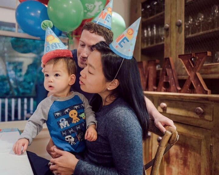 Max, the Zuckerbergs' first child, just turned one-year-old in November last year