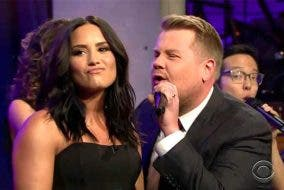 demi lovato james corden