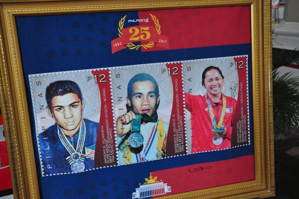 filipino olympic medalists stamps