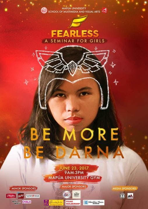 Fearless poster with sponsors