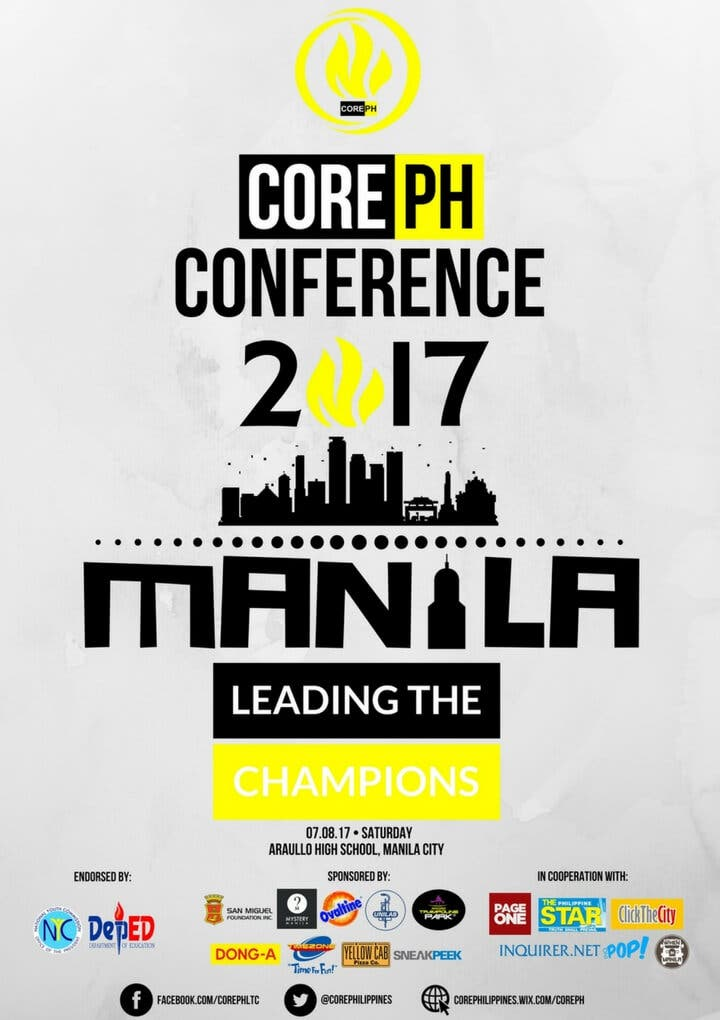 Official Poster - Core PH Conference 2017 Manila City