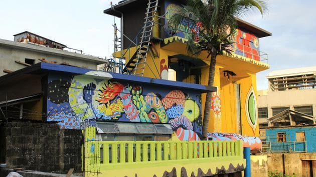 Redesign Manila - Pasig River Pumping Station with murals
