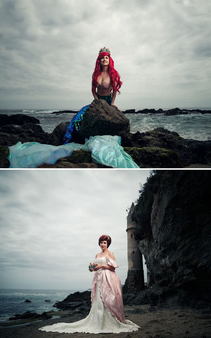 ariel disney princess as queens