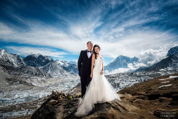 charleton churchill mount everest wedding