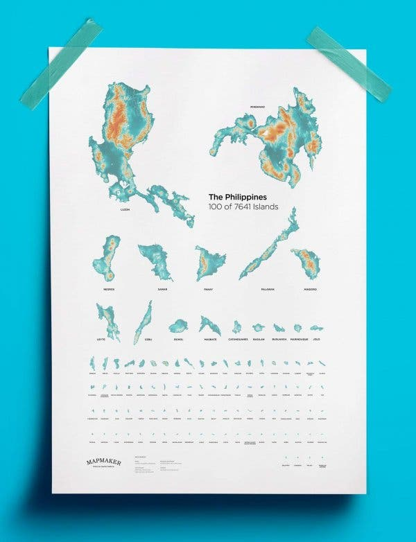 COOL: Artist gives maps of the Philippines a cool and informative ...