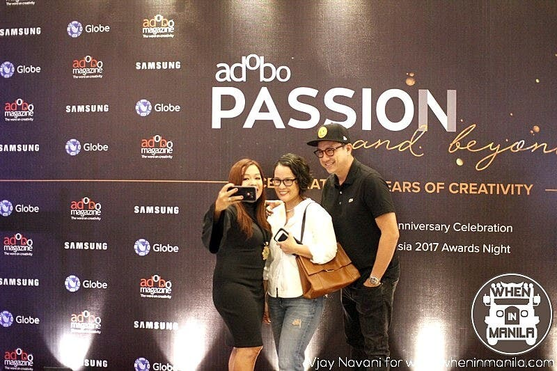 Adobo Magzine's CEO and Publisher. Angel Guerrero taking a photo with the guests.