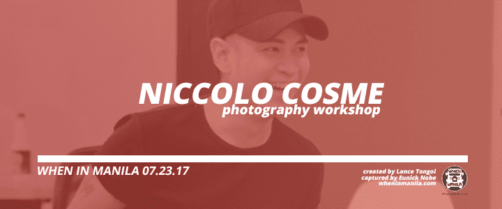 Photography and graphics workshop niccolo cosme