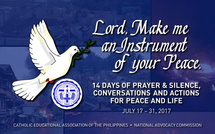 Catholic Schools in PH Embark on a 14-Day Prayer for Peace Initiative