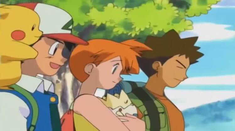 ash misty brock pokemon