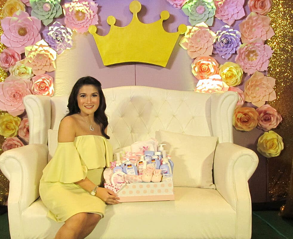 Camille is excited for her princess to be born so she can start using Sanosan Baby Care products