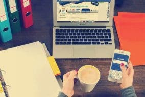 Social Media - using mobile and laptop