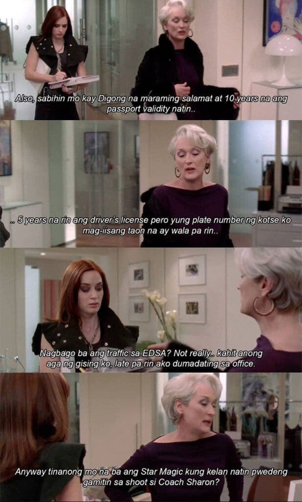 tagalog the devil wears prada