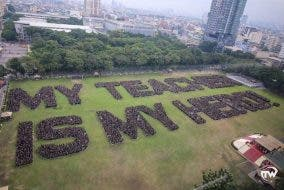 LOOK: UST Sets Guinness Record for Largest Sentence in Human Formation