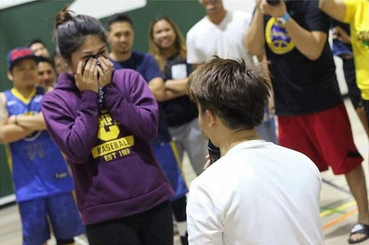 Watch This Marriage Proposal During A Fun Game Of Hoops Will Make