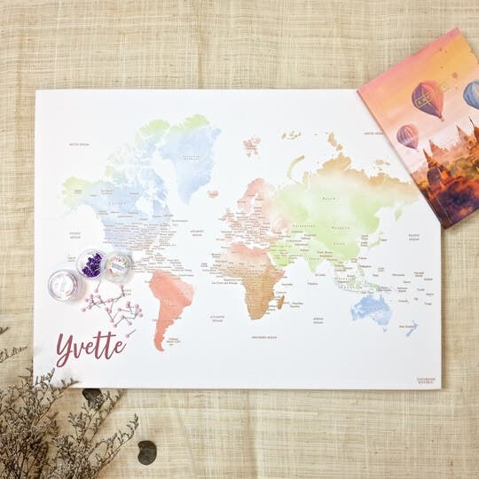 Daydream Republic Pin My Travel World Playful