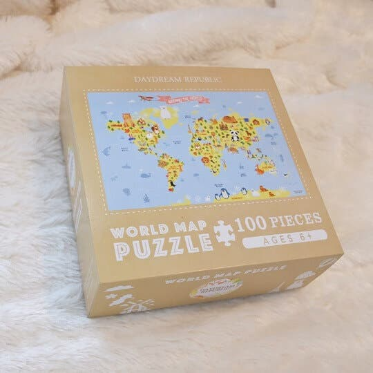 Daydream Republic World Map Puzzle Box