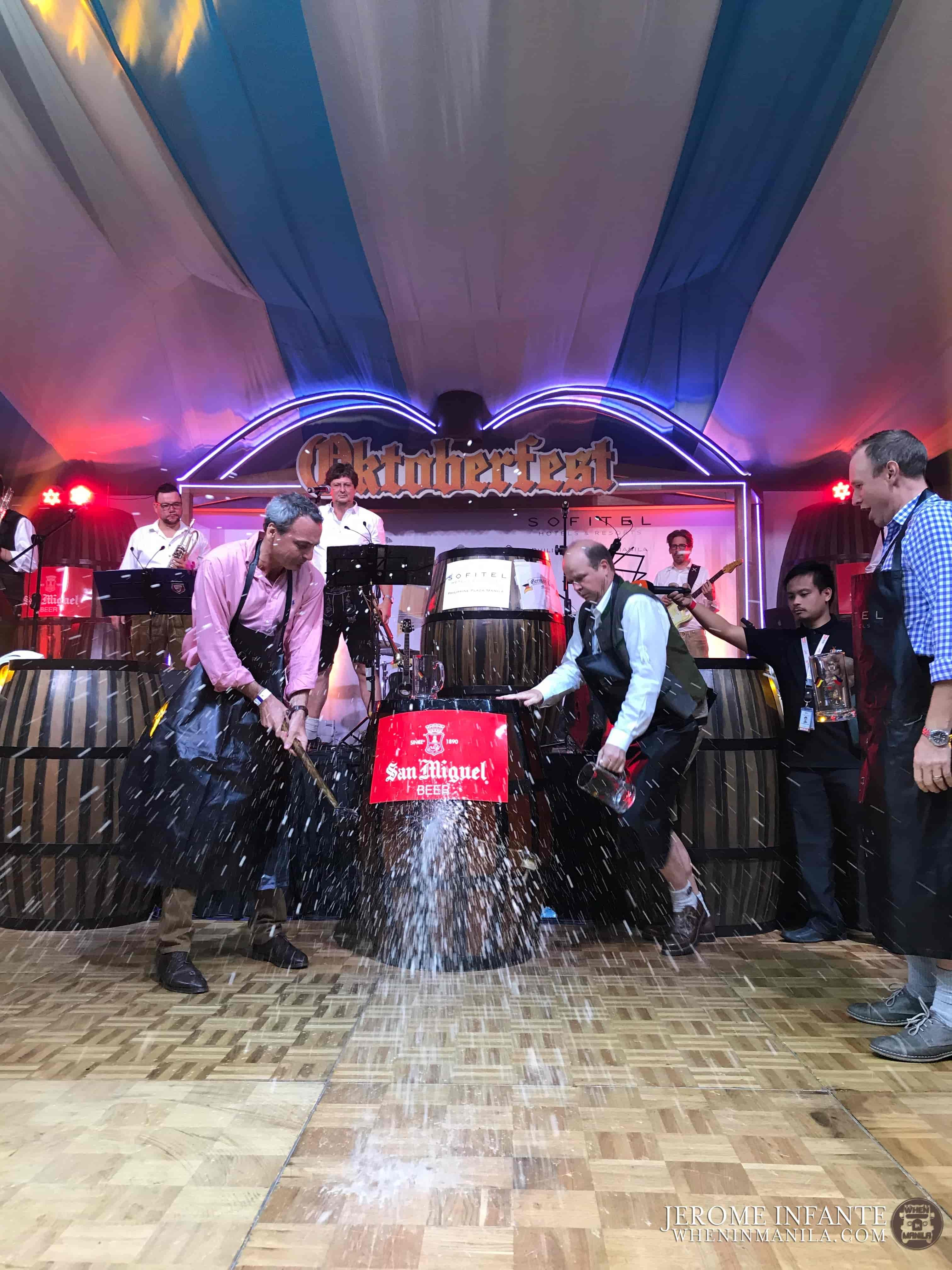 """""""O'zapft is"""" is a Bavarian expression which means """"it's tapped,"""" officially indicating the beginning of the festival."""