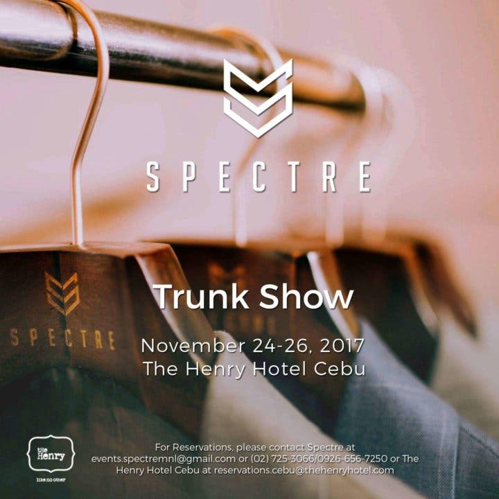 Spectre Trunk Show in Cebu: A Taste of the Best Filipino