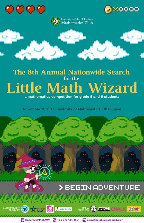 "UP Math Club to hold ""The 8th Annual Search for the Little Math ..."