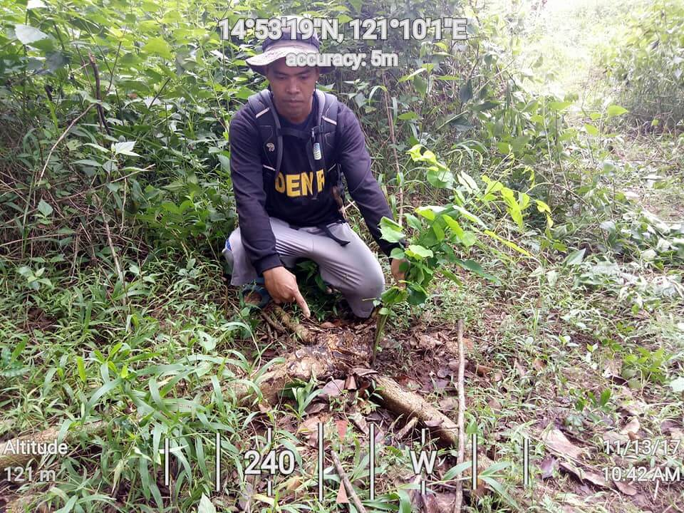 Bantay-Gubat-beside-the-stump-of-a-ten-year-old-Narra-Tree-at-the-Ipo-Watershed-by-Fredd-Ochavo