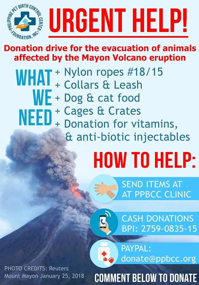 Animal Relief operations around Mayon Volcano by PPBCC