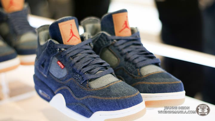 premium selection ab68f dbdf7 The Air Jordan IV x Levi s were recently released in selected Jordan Brand  retailers and in the Philippines, and Titan BGC held a release party for  the ...