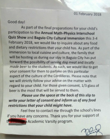 READ: This School Apparently Sent a Letter of Invitation For