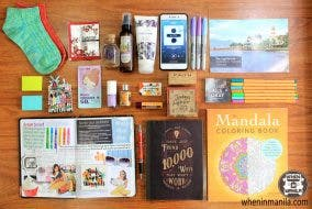DIY self-care kit for your precious me time flatlay