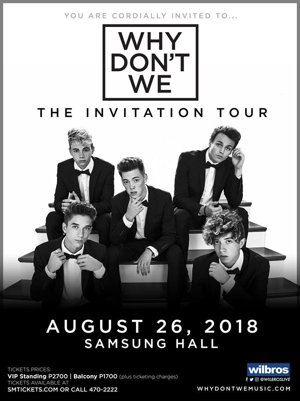 Why dont we invites you to the invitation tour in manila when you are cordially invited to the invitation tour atlantic recording group why dont we is excited to be coming to manila for the first time and will be stopboris Choice Image