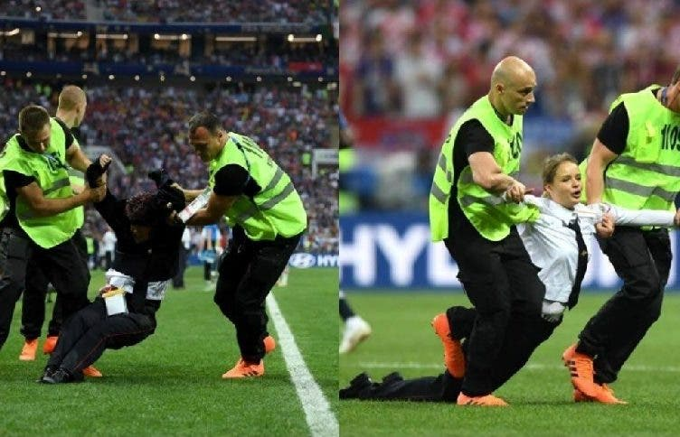 FIFA World Cup Finals France Croatia Pitch Invaders