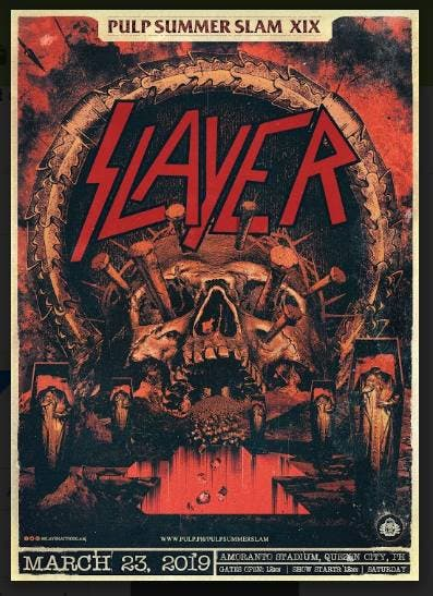 3196f6e2564d Slayer to headline Pulp Summer Slam XIX  SeeYouAtTheSLAM ...