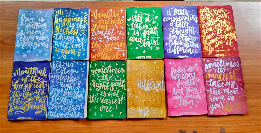 Look These Beautiful Personalized Notebooks Are All Painted By