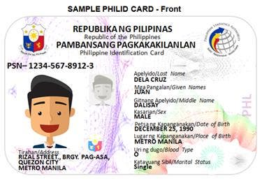 The Philippine National Id Cards Will Soon Be In Use And This Is
